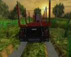 Fliegl Holzanhaenger TTM V1 для Farming Simulator 2013 вид сзади слева