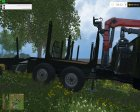 Лесовоз УРАЛ for Farming Simulator 2015 rear-left view