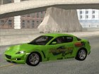 2004 Mazda RX-8 для GTA San Andreas вид сверху