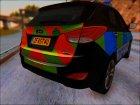 2012 Hyundai IX35 UK Police для GTA San Andreas вид сверху