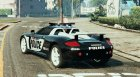 Porsche Carrera GT Cop for GTA 5 rear-left view