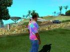 Футболка Психоделика для GTA San Andreas вид сбоку