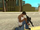 Black MP5 для GTA San Andreas вид слева