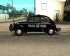 Volkswagen Beetle 1963 Policia Federal for GTA San Andreas rear-left view