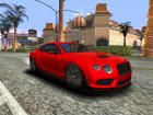 Bentley Continental GT3R 2015 для GTA San Andreas вид сзади