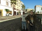 Чисто выбритый Нико для GTA San Andreas вид сбоку