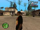 "Футболка с знаком зодиака ""Рыба"" для GTA San Andreas вид сзади слева"