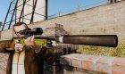 Снайперская винтовка AW L115A1 с глушителем v3 для GTA 4 вид сзади слева