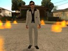 Vito's White and Black Vegas Suit from Mafia II для GTA San Andreas вид слева