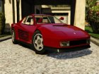 1984 Ferrari Testarossa 1.9 for GTA 5 top view