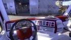Красно-белый салон для Volvo для Euro Truck Simulator 2 вид слева