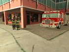 Realistic fire station in Los Santos