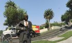 M4A1 v1.2 for GTA 5 back view