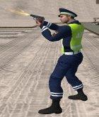 Инспектор ДПС в форме старого образца for GTA San Andreas left view