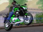 Kawasaki Z800 Monster Energy для GTA San Andreas вид сбоку