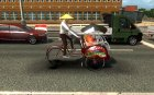 Рикша в трафик для Euro Truck Simulator 2 вид изнутри