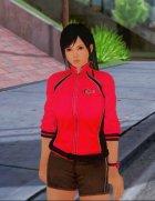 Kokoro wearing a tracksuit
