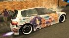Honda Civic EG6 - Clannad Itasha для GTA San Andreas вид изнутри