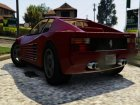 1984 Ferrari Testarossa 1.9 for GTA 5 rear-left view