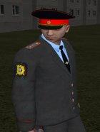 Капитан милиции России в кителе для GTA San Andreas вид сбоку