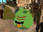 Green Fat Bird from Angry Birds Space for GTA San Andreas rear-left view