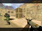 """Пак оружия с раскраской """"Азимов"""" для Counter-Strike 1.6 вид сзади слева"""