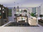 Living Pottery Barn для Sims 4 вид изнутри