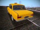 Москвич 412 Такси для GTA San Andreas вид сзади слева