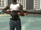 Orange weapon for GTA San Andreas left view