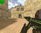 AK-47 - Green Force for Counter-Strike 1.6 rear-left view