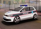 Volkswagen Polo GTI BIH Police Car for GTA San Andreas rear-left view