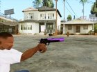Фиолетовый Desert Eagle for GTA San Andreas left view