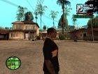 "Футболка с знаком зодиака ""Стрелец"". для GTA San Andreas вид сзади слева"