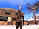 Skin HD Quiet (MGSV) для GTA San Andreas вид сзади