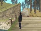 Биг Смоук в банде Балласов для GTA San Andreas вид сзади слева