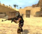 Desert Camo Helghast Skin For Gign for Counter-Strike Source top view