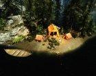 Домик возле водопада для TES V Skyrim вид изнутри