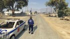 Russian Traffic Officer - Blue Jacket для GTA 5 вид слева