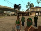 HD Пак банд Los Santos'а for GTA San Andreas rear-left view