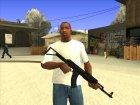 Чёрный AK47 for GTA San Andreas side view