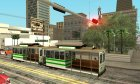 The tram is white with bright green stripes для GTA San Andreas вид сбоку