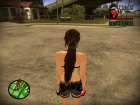 Skin Lara Croft Tomb Raider 9 для GTA San Andreas вид сзади слева