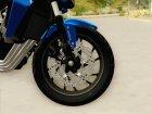 Honda CB650F Azul for GTA San Andreas inside view