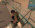Новый байкер в камуфляжной желетке для GTA San Andreas вид сбоку