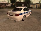 BMW M5 E60 Police LS for GTA San Andreas rear-left view