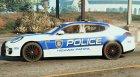 Porsche Panamera Turbo - Need for Speed Hot Pursuit Police Car для GTA 5 вид слева