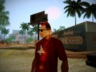 Red Mohawk and Black Stubbles для GTA San Andreas вид слева