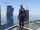Captain Marvel (ANAD) for GTA 5 rear-left view