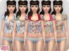 Matilde blouse RECOLOR 1 для Sims 4 вид слева