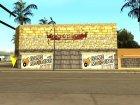 Новый спортзал на Грув Стрит для GTA San Andreas вид слева